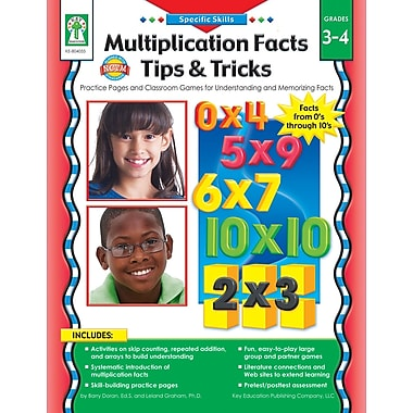 eBook: Key Education 804055-EB Multiplication Facts Tips and Tricks, Grade 3 - 4