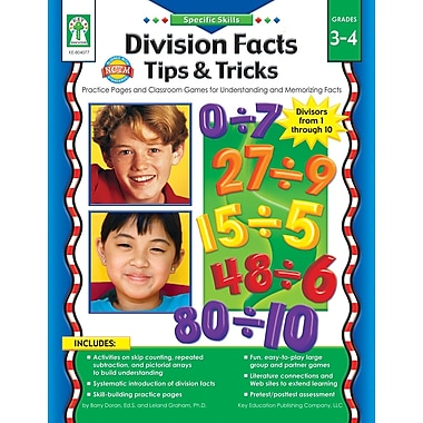 eBook: Key Education 804077-EB Specific Skills: Division Facts Tips & Tricks, Grade 3 - 4