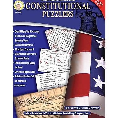 Livre numérique : Mark Twain 1392-EB Constitutional Puzzlers, 4e - 8e année