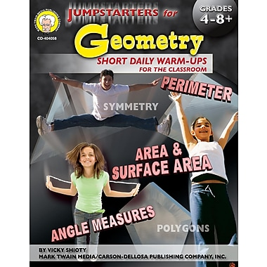 eBook: Mark Twain 404058-EB Jumpstarters for Geometry, Grade 4 - 8