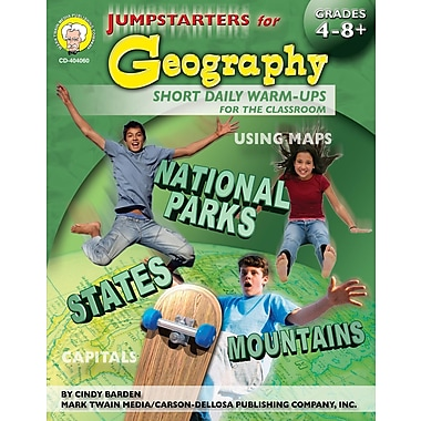 Livre numérique: Mark Twain « Jumpstarters for Geography», 9 à 14 ans, 404060-EB