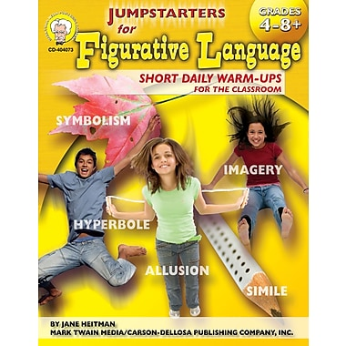 eBook: Mark Twain 404073-EB Jumpstarters for Figurative Language, Grade 4 - 8