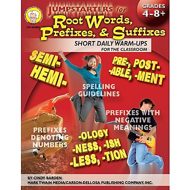 eBook: Mark Twain 404081-EB Jumpstarters for Root Words, Prefixes, and Suffixes, Grade 4 - 8