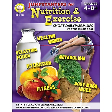 eBook: Mark Twain 404106-EB Jumpstarters for Nutrition and Exercise, Grade 4 - 8