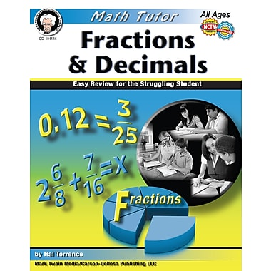 eBook: Mark Twain 404146-EB Math Tutor: Fractions and Decimals, Grade 4 - 8