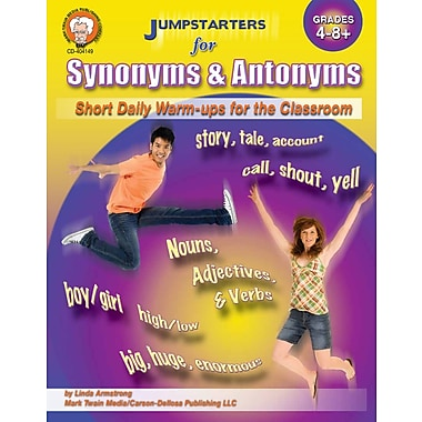 eBook: Mark Twain 404149-EB Jumpstarters for Synonyms and Antonyms, Grade 4 - 8