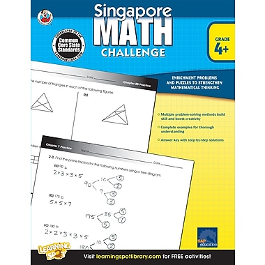 Livre numérique : Frank Schaffer� -- Singapore Math Challenge 704281-EB, 4e à 6e année