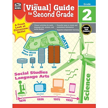 Carson-Dellosa 704926-EB Visual Guide to Second Grade
