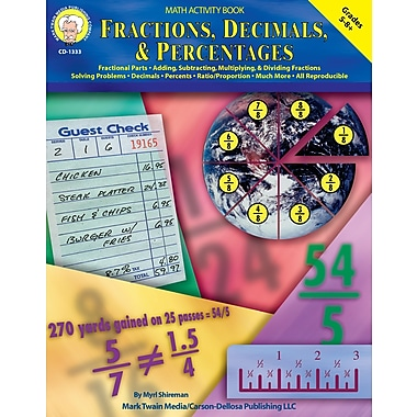 eBook: Mark Twain 1333-EB Fractions, Decimals, & Percentages, Grade 5 - 8
