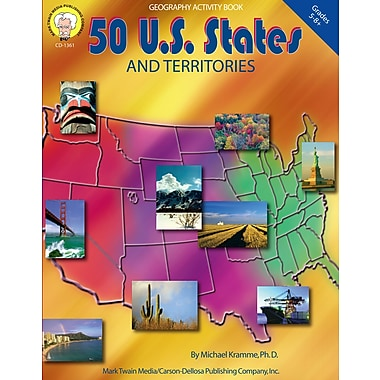 eBook: Mark Twain 1361-EB 50 U.S States and Territories, Grade 5 - 8
