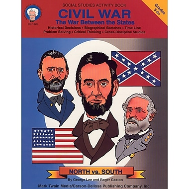 eBook: Mark Twain 1828-EB Civil War, Grade 5 - 8