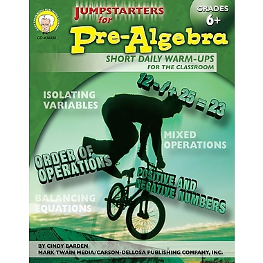 Livre numérique : Mark Twain 404030-EB Jumpstarters for Pre-Algebra, 6e - 8e année
