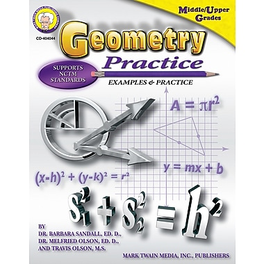 eBook: Mark Twain 404044-EB Geometry Practice Book, Grade 7 - 8