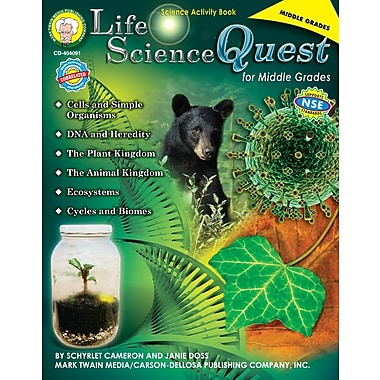 Livre numérique: Mark Twain « Life Science Quest for Middle Grades », 11 à 14 ans, 404091-EB