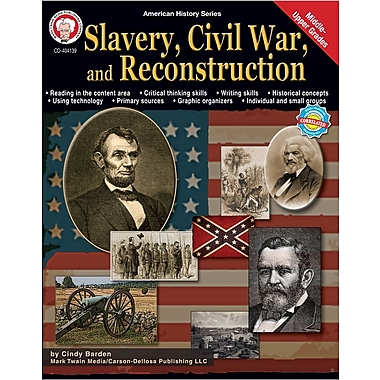 Livre numérique: Mark Twain « Slavery, Civil War, and Reconstruction », 11 à 18 ans, 404139-EB