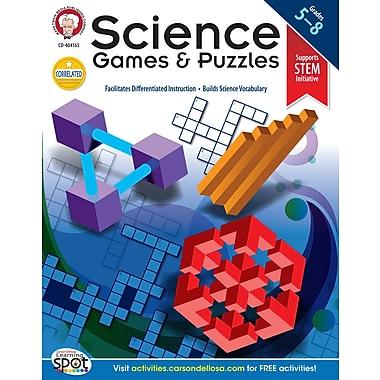 Livre numérique : Mark Twain 404165-EB « Science Games and Puzzles », 5e à 8e année