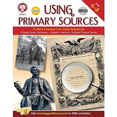 eBook: Mark Twain 404212-EB Using Primary Sources to Meet Common Core State Standards, Grade 6 - 8