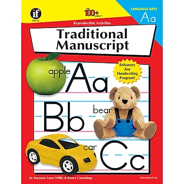 eBook: Instructional Fair 0880128259-EB Traditional Manuscript, Grade K - 6