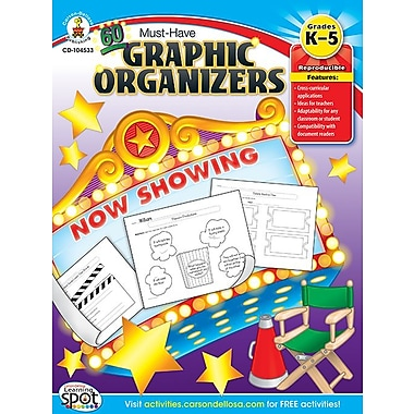 Livre numérique : Carson-Dellosa� -- 60 Must-Have Graphic Organizers 104533-EB, maternelle à 5e année