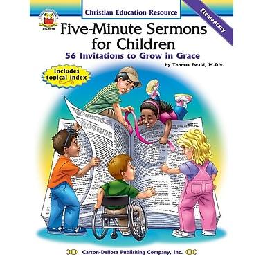 Livre numérique : Five-Minute Sermons for Children 2029-EB, livre chrétien, maternelle à 5e année