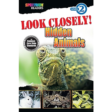 eBook: Spectrum 704330-EB Look Closely! Hidden Animals, Grade K - 1