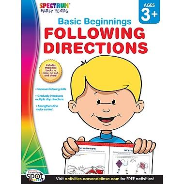 Livre numérique : Spectrum 704170-EB Following Directions, préscolaire à maternelle