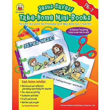 eBook: Christian 204054-EB Jesus Saves! Take-Home Mini-Books, Grade PK - 2