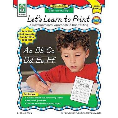 Livre numérique : Key Education� -- Let's Learn to Print: Modern Manuscript 804005-EB, prématernelle à 2e année