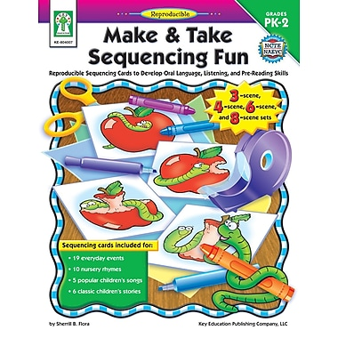 eBook: Key Education 804007-EB Make & Take Sequencing Fun, Grade PK - 2
