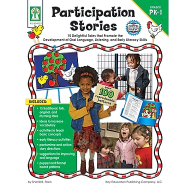 eBook: Key Education 804033-EB Participation Stories, Grade PK - 1