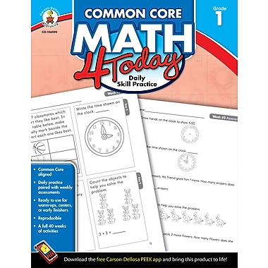 eBook: Carson-Dellosa 104590-EB Common Core Math 4 Today, Grade 1