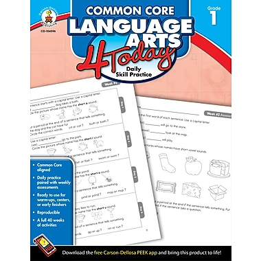 eBook: Carson-Dellosa 104596-EB Common Core Language Arts 4 Today, Grade 1