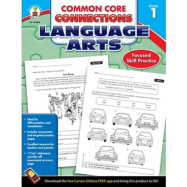 eBook: Carson-Dellosa 104608-EB Common Core Connections Language Arts, Grade 1