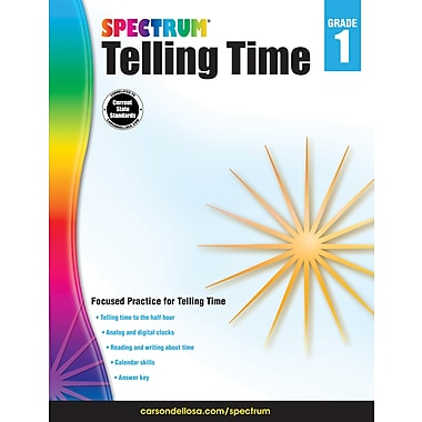 Carson-Dellosa 704980-EB Telling Time, 1re année