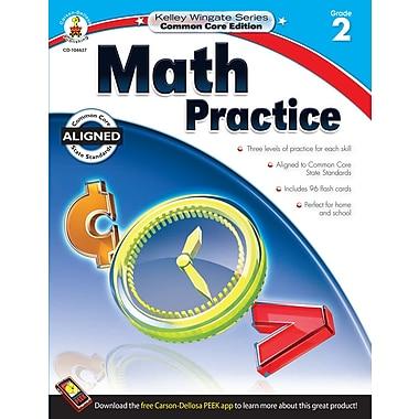Livre numérique : Carson-Dellosa� -- Math Practice 104627-EB, 2e année