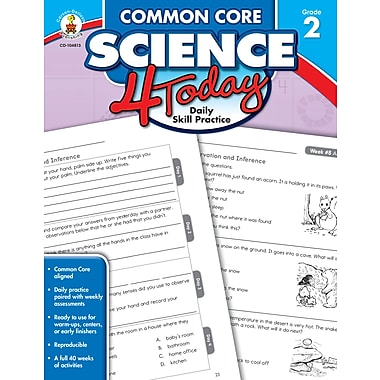 Livre numérique : Carson-Dellosa� -- Common Core Science 4 Today 104813-EB, 2e année