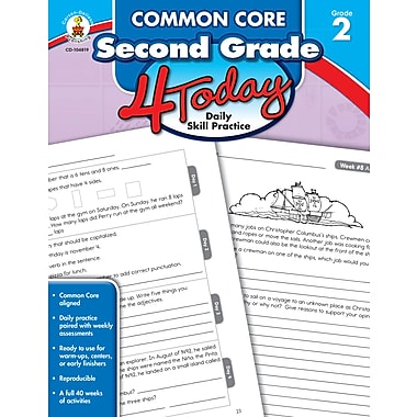 eBook: Carson-Dellosa 104819-EB Common Core Second, Grade 4 Today, Grade 2