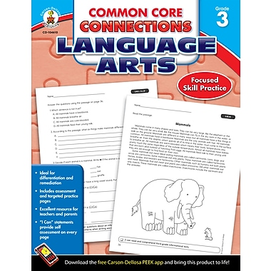 eBook: Carson-Dellosa 104610-EB Common Core Connections Language Arts, Grade 3