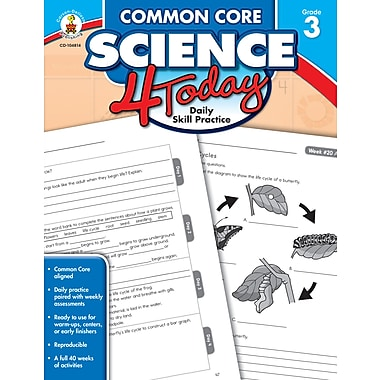 Livre numérique : Carson-Dellosa� -- Common Core Science 4 Today 104814-EB, 3e année