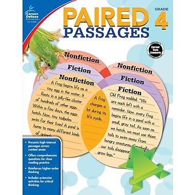 Carson-Dellosa 104889-EB Paired Passages, 4e année