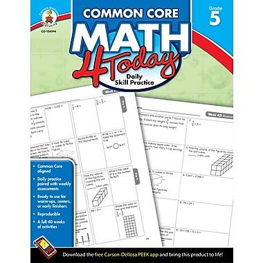 eBook: Carson-Dellosa 104594-EB Common Core Math 4 Today, Grade 5