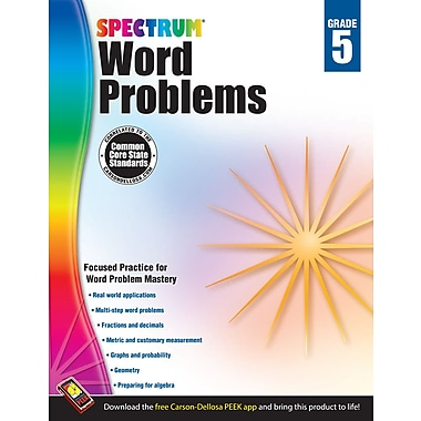 eBook: Spectrum 704491-EB Word Problems, Grade 5
