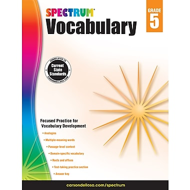 Livre numérique : Spectrum 704612-EB Spectrum Vocabulary, 5e année