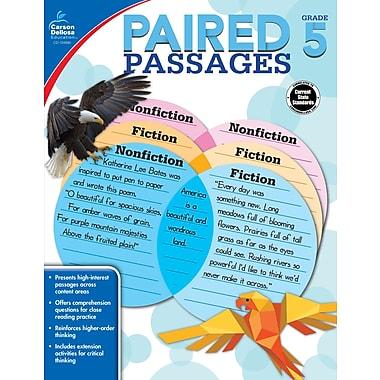 Carson-Dellosa 104890-EB Paired Passages, 5e année