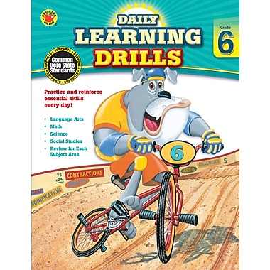 eBook: Brighter Child 704397-EB Daily Learning Drills, Grade 6