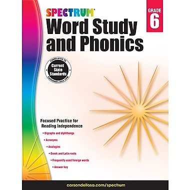 eBook: Spectrum 704609-EB Spectrum Word Study and Phonics, Grade 6