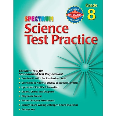 Livre numérique : Spectrum 0769680682-EB Science Test Practice, 8e année