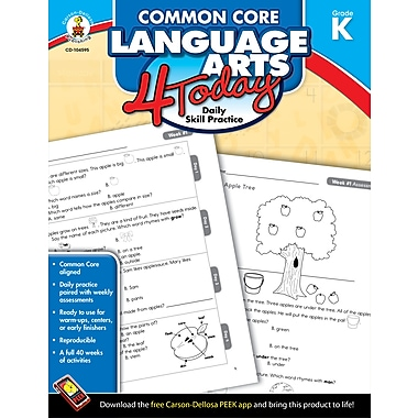 Livre numérique : Carson-Dellosa – Common Core Language Arts 4 Today 104595-EB