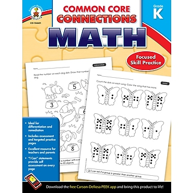 eBook: Carson-Dellosa 104601-EB Common Core Connections Math, Grade K