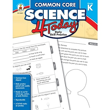 eBook: Carson-Dellosa 104811-EB Common Core Science 4 Today, Grade K